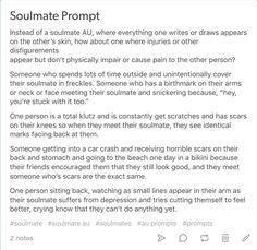 This one...I love it! My soulmate would have so many scars.