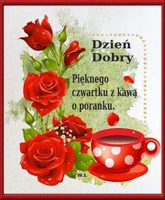 Dla każdego: DZIEŃ DOBRY Place Card Holders, Birthday, Tableware, Pictures, Humor, Facebook, Fotografia, Polish, Good Morning