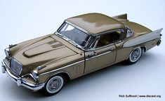 Danbury+Mint+Diecast+Cars | Danbury Mint 1:24 1957 Studebaker Golden Hawk diecast car