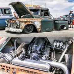 Yep it's a  Repost By  55 Chevy Truck, Gmc Trucks, Truck Drivers, Rat Rod Cars, Rat Rods, Chevy Apache, Classic Pickup Trucks, Lowered Trucks, 1955 Chevy