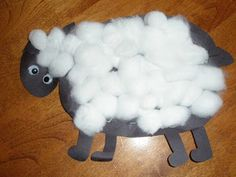 Baa Baa Black Sheep craft - preschool