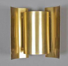 Sven Ivar Dysthe; Brass 'Butterfly' Wall Light for Arnold Wiigs Fabrikke, 1963.