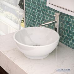 DECOLAV's Classically Redefined® Collection includes skillfully crafted vitreous china bathroom sinks.