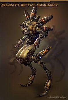 Trash robots (old) click to see more, Eugeniy Gottsnake on ArtStation at https://www.artstation.com/artwork/trash-robot-1