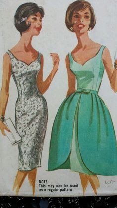 Vintage 1960s Sewing Pattern McCalls 6277 Cocktail Dress Overskirt Prom B36  U C df910f6ee