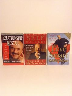 Lot Of 3 Dr Phil McGraw Self Help Hardcover Books Grow Learn Help Read Analyze