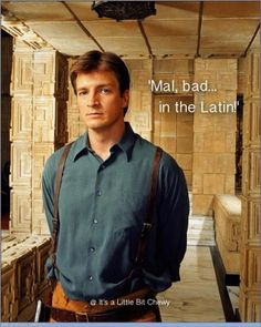 """Mal, bad ... in the latin.  (Image found on """"Firefly is Awesome"""" facebook page)"""