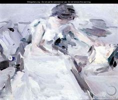 Lady in a White Dress - Samuel John Peploe