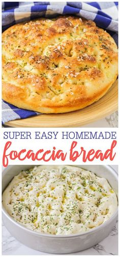 Focaccia Bread Crisp yet fluffy bread topped with delicious herbs and seasonings. This flavorful focaccia bread is so easy to make and is perfect for sandwiches dipping in soups or enjoying on its own! The post Focaccia Bread appeared first on Getränk. Bread Machine Recipes, Easy Bread Recipes, Cooking Recipes, Bread Flour Recipes, Super Easy Bread Recipe, Breakfast Bread Recipes, Best Bread Recipe, Top Recipes, Kitchen Recipes