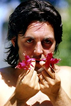 Paul McCartney, stopping to taste the flowers?