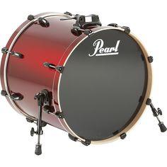 Pearl Vision Birch Bass Drum Wine Red 22x18
