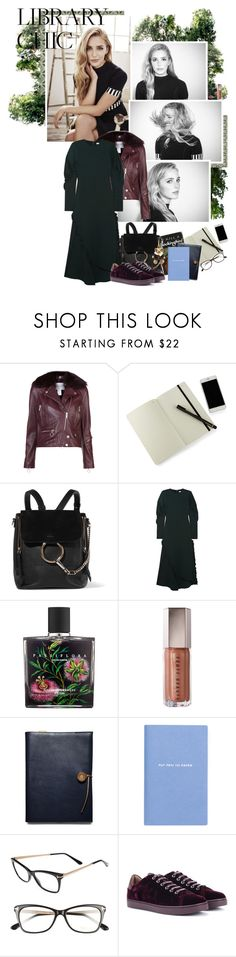 """""""library chic"""" by msamybites ❤ liked on Polyvore featuring The Arrivals, Moleskine, Chloé, TIBI, Nest, Coach, Smythson, Tom Ford, Gianvito Rossi and Burberry"""