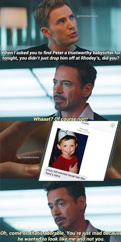 It is my personal favourite. lol!! #SuperFamily #TonyDaddy #StevePapa #Pete #MCU