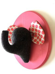 Elephant felt taxidermy/faux taxidermy/trendy by SquackDoodle, $45.00