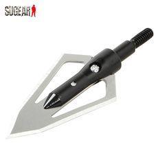 Hunting Military Tactical 2 Blades Fixed Archery Arrowhead Stainless Steel Archery Arrow Broadhead Shooting Arrow Head Points