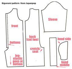 summer kigurumi pattern