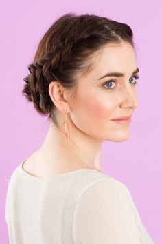 Follow this hair tutorial to give yourself a crown braid updo.