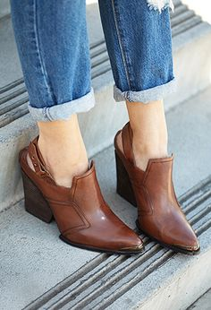 Rustic Slingback Booties   FOREVER 21 - 2000111422