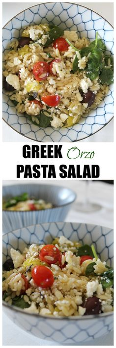 Greek Orzo Pasta Salad | EatStyleCreate.com
