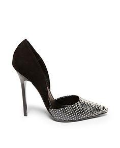 VALANCIA: STEVE MADDEN Shoe Boots, Shoes Heels, High Heels, Stilettos, Shoe Display, Shoe Art, Shoe Shop, Black Pumps, Me Too Shoes
