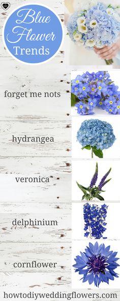 Wedding Trends! Blue Wedding Ideas & flowers. Blue Wedding Palette Decor and Cake. Something Blue Wedding inspiration. How to make a Wedding bouquet. #greenerywedding #blueweddings #blueflowers #blu (Diy Wedding Boho)