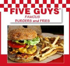 New blog post - 9/4/14 - 5 Guys Burgers & Fries – a hunk of NYC meat! http://blog.theregularguynyc.com/5-guys-burgers-fries-a-hunk-of-nyc-meat/