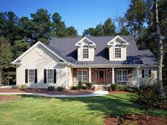 House Plans and More - Drew Plantation Southern Home Plan 111D-0025 - 2,962 sq ft - 1.5 stories - 4 bed - 3.5 bath - 2 car garage