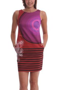 Desigual women's Bruk short dress with colours in different shades. This short, elegant and modern dress is ideal for any occasion.