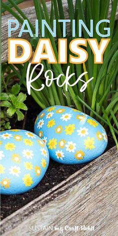 To ensure your painted rocks will withstand all types of weather when placed outside we'll show you how to paint on rocks for outdoors. Outdoor Projects, Diy Craft Projects, Decor Crafts, Diy Crafts, Garden Crafts, Garden Projects, Craft Ideas, Types Of Painting, Painting Tips