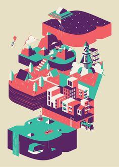 Escapades by Isai Araneta, via Behance