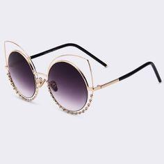 1761a25a96bb4 Óculos Gatinho Com Strass Modern Bae