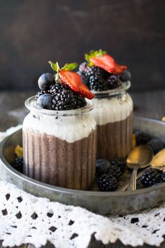 Chia Pudding Parfait with Acai Maqui Superfood Blend