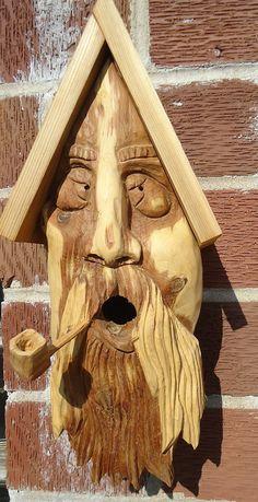 Original cedar wood birdhouse complete with a by OsborneArtwork