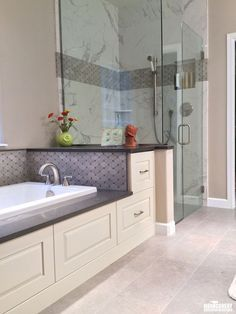 Check out these bathroom upgrades! Bathroom Linen Closet, Master Bathroom, Bathroom Renovations, Home Remodeling, Remodels And Restorations, Bath Fixtures, Room Planning, Contemporary Bathrooms, Home Reno
