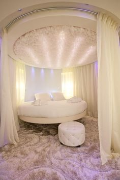 The Sublime Suite at Seven Hotel, Paris. Yep, round beds are totally coming back.