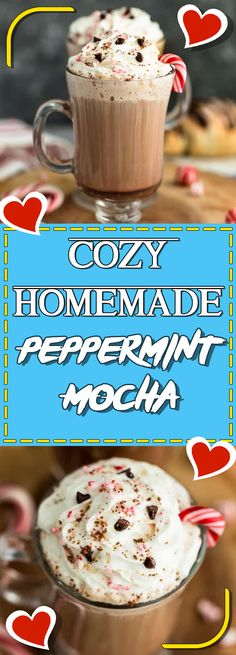 cozy homemade peppermint mocha #appetizer #recipeideas #recipes #dessert #dessertrecipes #desserttable