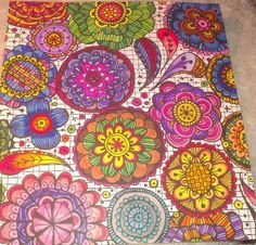 Flower mandalas. Finished Adult coloring pages. Zenspirations. Color mandala inspiration. Colored. Rainbows. Messy minds. Coloring for the soul. Floral Doodles. Completed. Love to color live to color. Cant stop Wont stop.