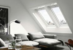 VELUX loft conversions - find your loft inspiration here Loft Conversion, Interior, Home, Attic Insulation, Small Attic Room, Loft Inspiration