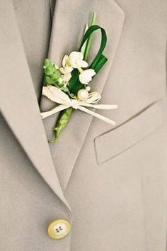 A sampaguita boutonniere for the groom, of course. | 19 Beautiful Ways To Use Sampaguita Flowers In Your Wedding