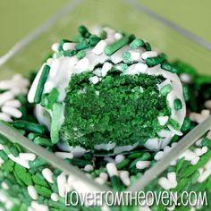 Green Velvet Cake Truffles