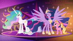The full circle by LaszlVFX on DeviantArt My Little Pony List, My Little Pony Cartoon, My Little Pony Twilight, My Little Pony Characters, My Little Pony Drawing, My Little Pony Pictures, My Little Pony Friendship, Celestia And Luna, Princess Celestia