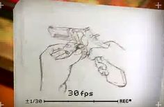 This animation is flipbook animation and it is a good display as well. I will attempt this myself because you can really get creative with this. The only problem with it is that it's extremely time consuming and requires a load of patience. JD (http://www.youtube.com/watch?v=UocF4ycBnYE)