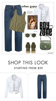 """""""Urban gypsy: Olive and Denim"""" by mcheffer ❤ liked on Polyvore featuring LE3NO, Nine West, Oliver Spencer, NIKE, AlexaChung and Hollister Co."""