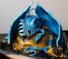 Tarta Dragón Azul - Blue Dragon Cake