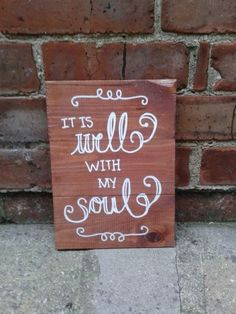 It is Well Sign Hand-painted and distressed wooden sign.