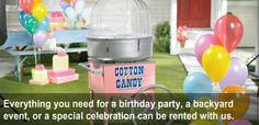 Everything you need for a birthday celebration can be rented with us. http://www.grandrentaltriad.com/catalog/31351/party-event