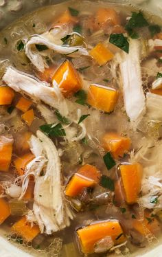 Slow Cooker Traditional Chicken Soup *Slow Cooker Traditional Chicken Soup Recipe* Whole chicken with vegetables and rice cooked in a slow cooker. Very easy and delicious traditional chicken soup Chicken Soup Slow Cooker, Vegetable Soup Crock Pot, Vegetable Soup With Chicken, Crock Pot Soup, Chicken Soup Recipes, Chicken And Vegetables, Recipe Chicken, Veggies, Pizza Recipes