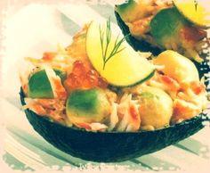 Avocado Stuffed with Crabmeat #recipe