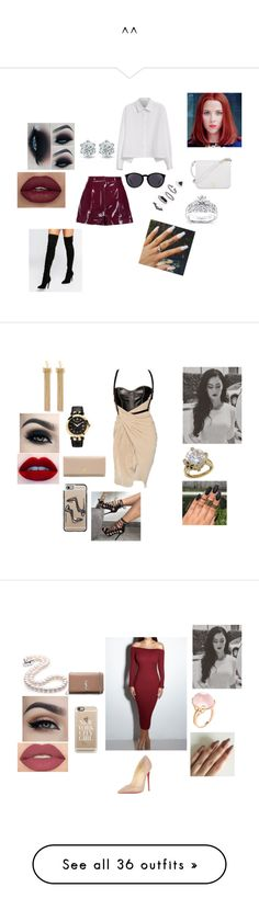 """^^"" by pamella-735 ❤ liked on Polyvore featuring Valentino, Y's by Yohji Yamamoto, Kendall + Kylie, Kobelli, Topshop, Yves Saint Laurent, Furla, art, dresses and short dresses"