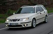 2003 Saab 9-5  Wagon w/Xenon Headlamps & Fog Lamps On.(have fog lamps on @ all times)